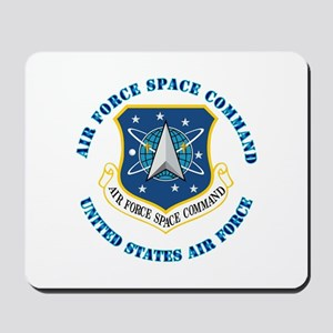 Air Force Space Cmd with Text Mousepad