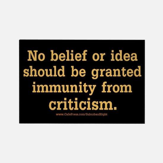 """Belief Immunity Criticism"" Rectangle Magnet"