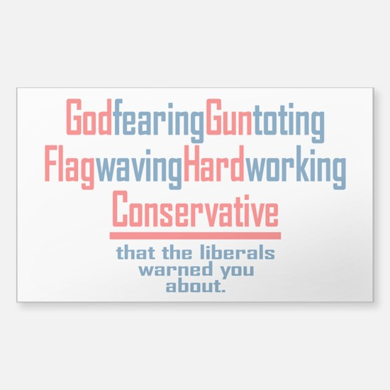 Conservative Sticker (Rectangle)