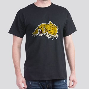 Saber Tooth Tiger Mascot Dark T-Shirt