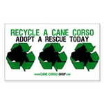 Recycled Cane Corso Sticker (Rectangle 50 pk)