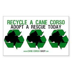 Recycled Cane Corso Sticker (Rectangle 50 pk)