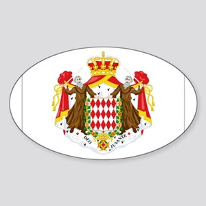 Monaco Oval Sticker