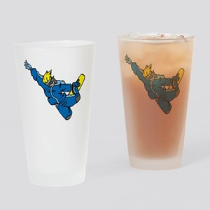 Extreme Snowboarder Drinking Glass