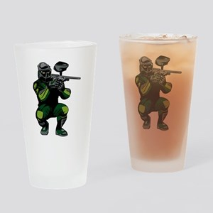 Paintball Player Drinking Glass