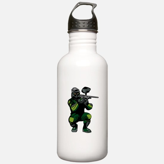 Paintball Player Water Bottle