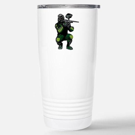 Paintball Player Stainless Steel Travel Mug