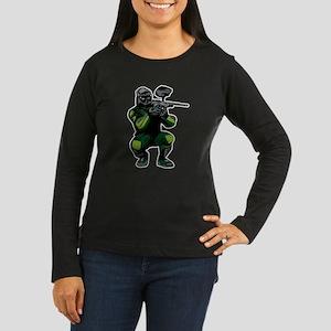 Paintball Player Women's Long Sleeve Dark T-Shirt