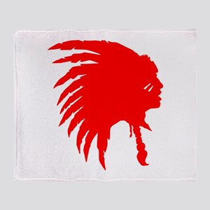 Native American War Chief Throw Blanket