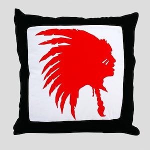 Native American War Chief Throw Pillow