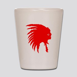 Native American War Chief Shot Glass