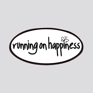 running on happiness Patches
