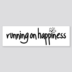 running on happiness Sticker (Bumper)