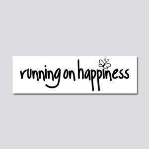 running on happiness Car Magnet 10 x 3