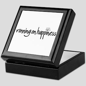 running on happiness Keepsake Box