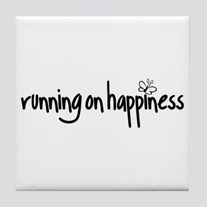 running on happiness Tile Coaster