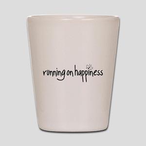 running on happiness Shot Glass