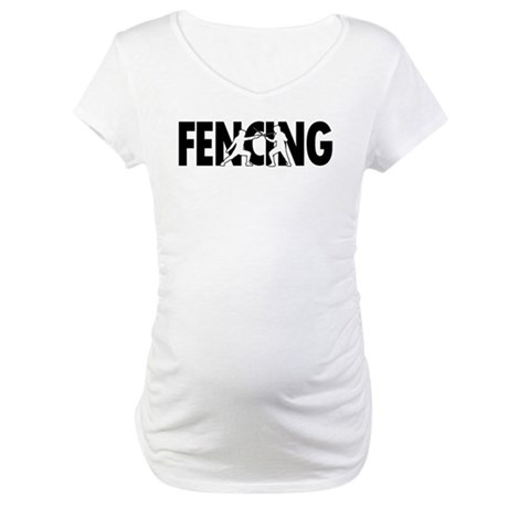 Fencing Profiles Maternity T-Shirt