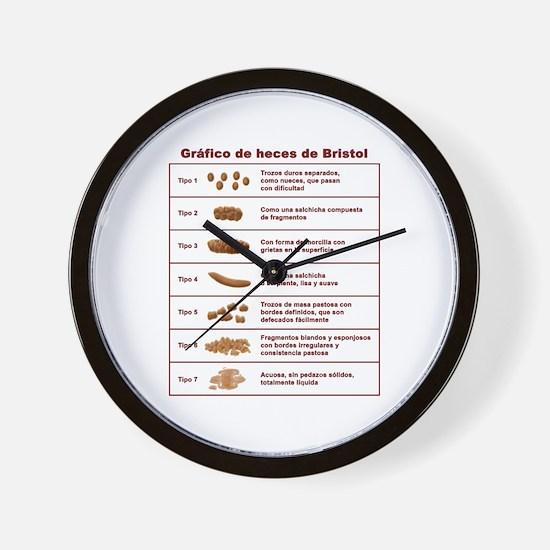 Gráfico de heces de Bristol Wall Clock