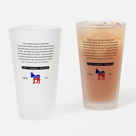J.F.K. Drinking Glass