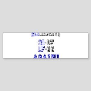 Eliminated Again! Sticker (Bumper)