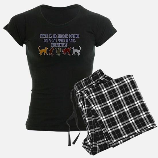No Snooze Button for Kitties Pajamas