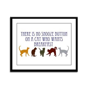 No Snooze Button for Kitties Framed Panel Print