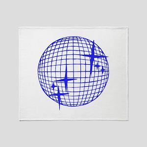 Blue Disco Ball Throw Blanket