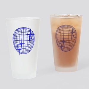 Blue Disco Ball Drinking Glass