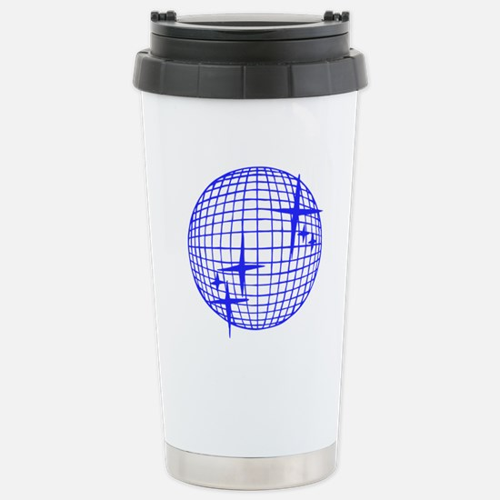 Blue Disco Ball Stainless Steel Travel Mug