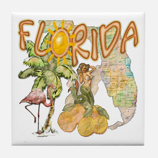 Florida Tile Coaster