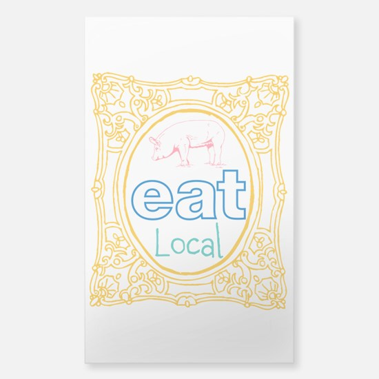 Eat Local Sticker (Rectangle)