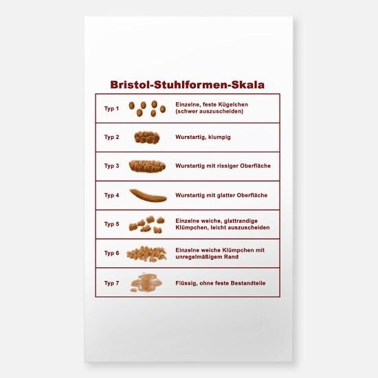 Bristol-Stuhlformen-Skala Sticker (Rectangle)
