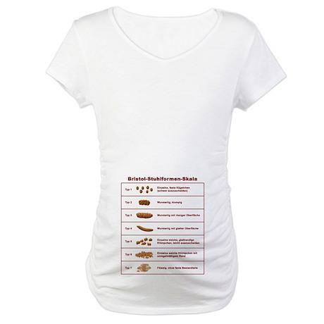 Bristol-Stuhlformen-Skala Maternity T-Shirt