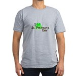 I Love St. Patrick's Day Men's Fitted T-Shirt (dar