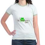 I Love St. Patrick's Day Jr. Ringer T-Shirt