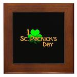 I Love St. Patrick's Day Framed Tile