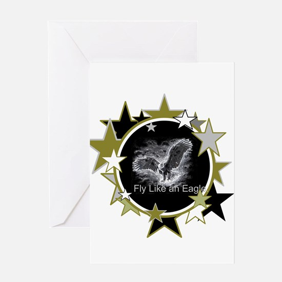 Fly Like an Eagle with Stars Greeting Card