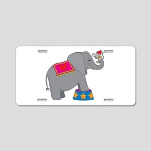 Elephant and Mouse Aluminum License Plate