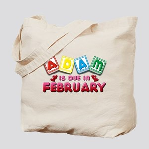 Adam is Due in February Tote Bag