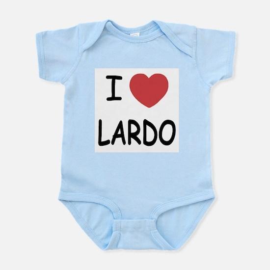 I heart lardo Infant Bodysuit