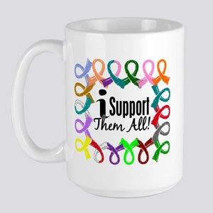 I Support Them All Large Mug