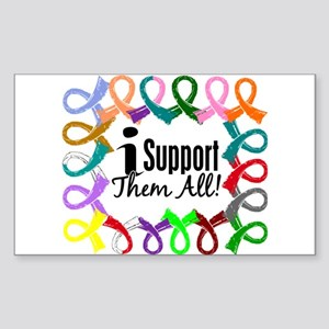I Support Them All Sticker (Rectangle)