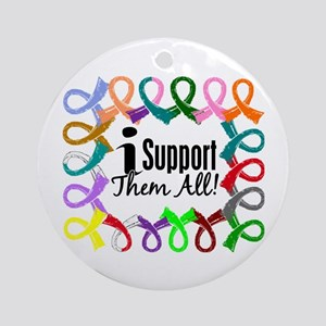 I Support Them All Ornament (Round)