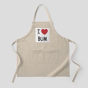I heart bum Apron