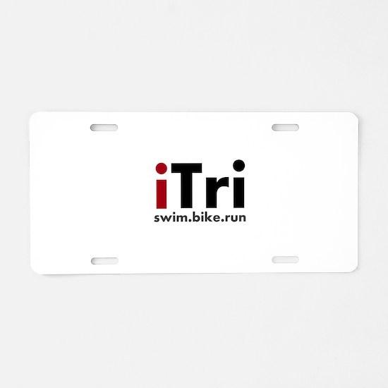 iTri Triathlon Merchandise Aluminum License Plate