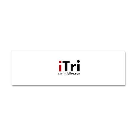 iTri Triathlon Merchandise Car Magnet 10 x 3
