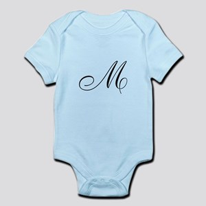 M Initial Infant Bodysuit