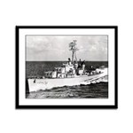 USS HYMAN Framed Panel Print