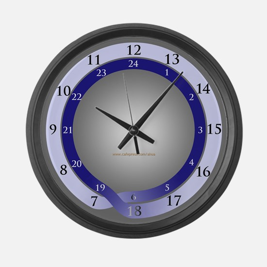 24-hour (daylight dominant) Large Wall Clock